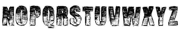 Manuscrit Regular Font UPPERCASE