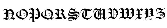Manuskript Gothisch Font UPPERCASE