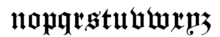 Manuskript Gothisch Font LOWERCASE