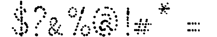 Many a Little Makes a Mickle Demo Font OTHER CHARS