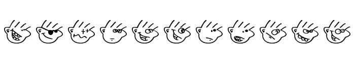 Many moods of Moe Font LOWERCASE