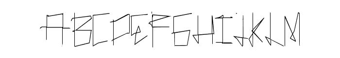 ManyLines Font UPPERCASE