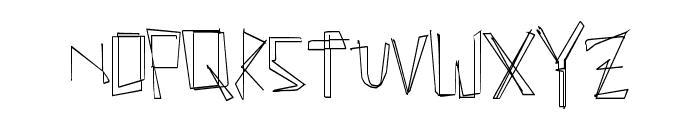 ManyLines Font LOWERCASE