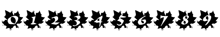 Maple Leaf Rag Font OTHER CHARS