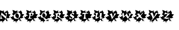 Maple Leaf Rag Font UPPERCASE
