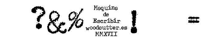 Maquina de Escribir Font OTHER CHARS