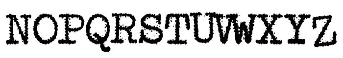 Maquina de Escribir Font UPPERCASE