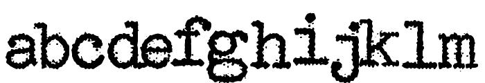 Maquina de Escribir Font LOWERCASE