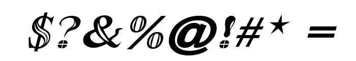 Maranallo Italic Font OTHER CHARS