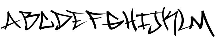 Marc Digital Graffiti Regular Font UPPERCASE