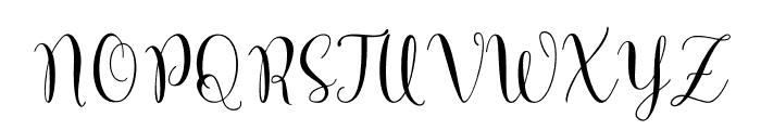 MarcellinaScript Font UPPERCASE