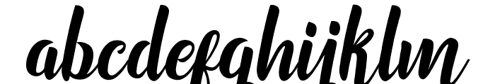 Marchelina Script by Cotbada Studio Font LOWERCASE