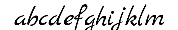 Marck Script Font LOWERCASE