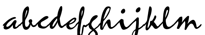 Mariah Regular Font LOWERCASE