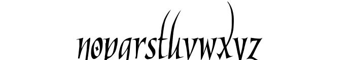 MarigoldWild Font LOWERCASE