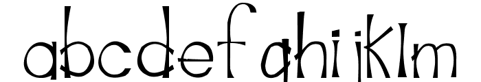 MarinadeRegular Font LOWERCASE