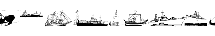 MarineBats Font UPPERCASE