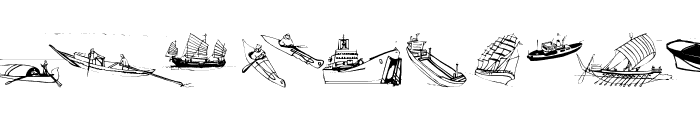 MarineBats Font LOWERCASE