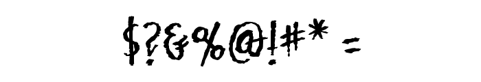 Mark of the Beast BB Font OTHER CHARS