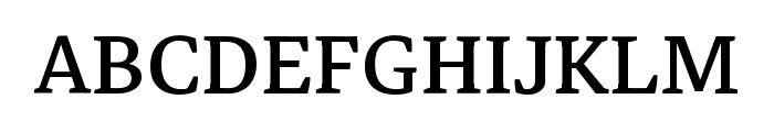 Markazi Text Regular Font UPPERCASE