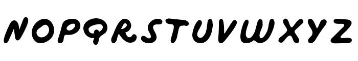 Marker Bold Font UPPERCASE