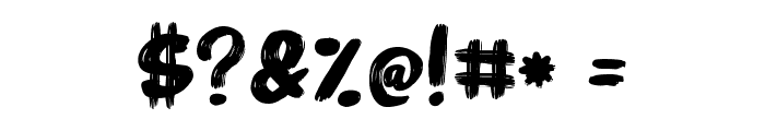 Marker Brush Font OTHER CHARS