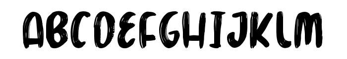 Marker Brush Font UPPERCASE