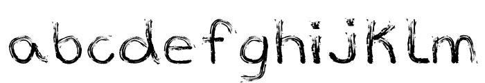 Marker Font Font LOWERCASE