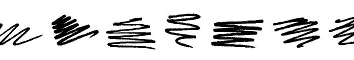 Marker Scribbles Font UPPERCASE