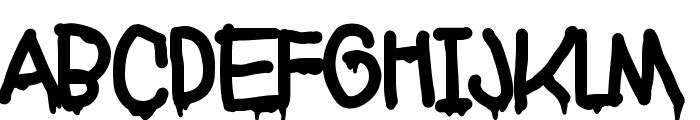 Markera Gravity Font UPPERCASE