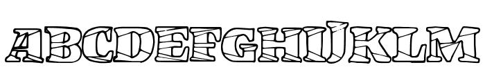 MarketCrash Font UPPERCASE
