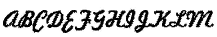 Marketing Script Inline Font UPPERCASE