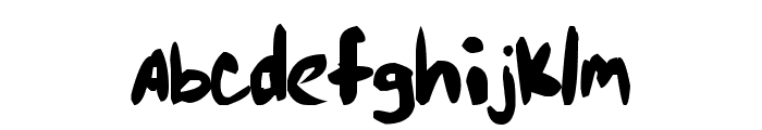 Markie's Fault Font LOWERCASE