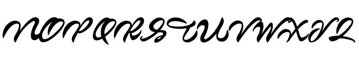 Markinson Font UPPERCASE