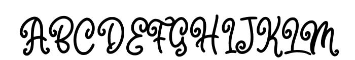 Marline Font UPPERCASE