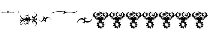 Marquis De Sade Ornaments Font UPPERCASE