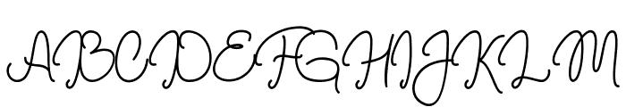 Marrisa Font UPPERCASE
