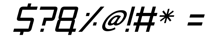 Mars Mission Italic Font OTHER CHARS