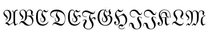 MarsFraktur Normal Font UPPERCASE