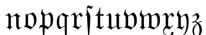 MarsFraktur Normal Font LOWERCASE