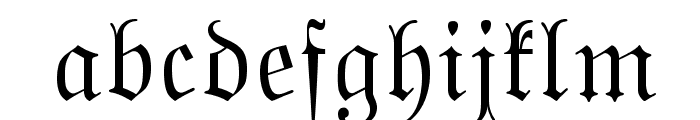 MarsFraktur OT Normal Font LOWERCASE