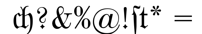 MarsFrakturBohem Normal Font OTHER CHARS