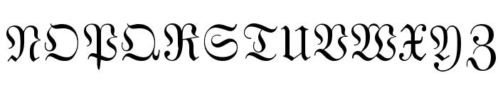 MarsFrakturBohem Normal Font UPPERCASE
