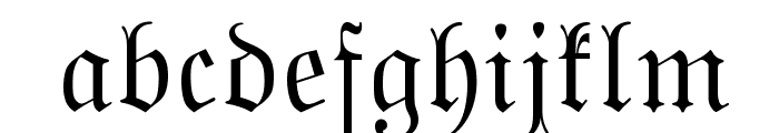 MarsFrakturBohem Normal Font LOWERCASE