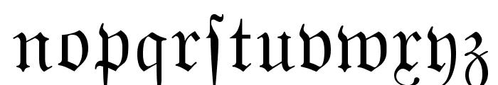 MarsFrakturDansk Normal Font LOWERCASE