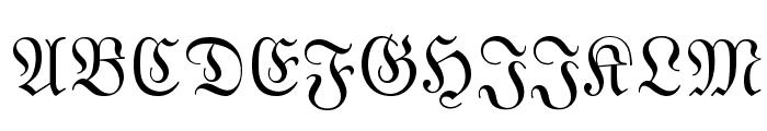 MarsFrakturLett Normal Font UPPERCASE