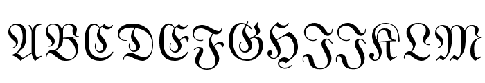 MarsFrakturSlovak Normal Font UPPERCASE