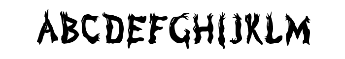 Marsh Gas Font UPPERCASE