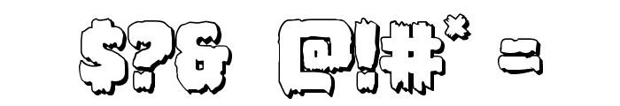 Marsh Thing 3D Font OTHER CHARS