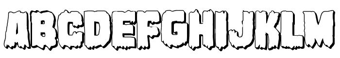 Marsh Thing 3D Font UPPERCASE